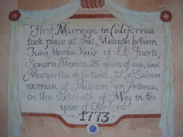 Mission-San-Antonio-de-Padua-first-marriage-in-california