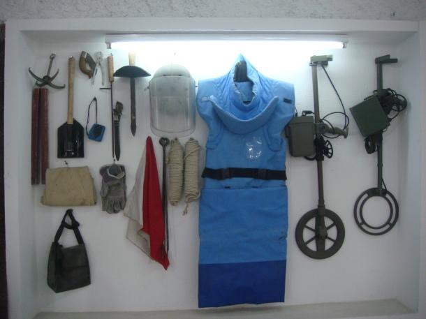 demining equipment omar mine museum