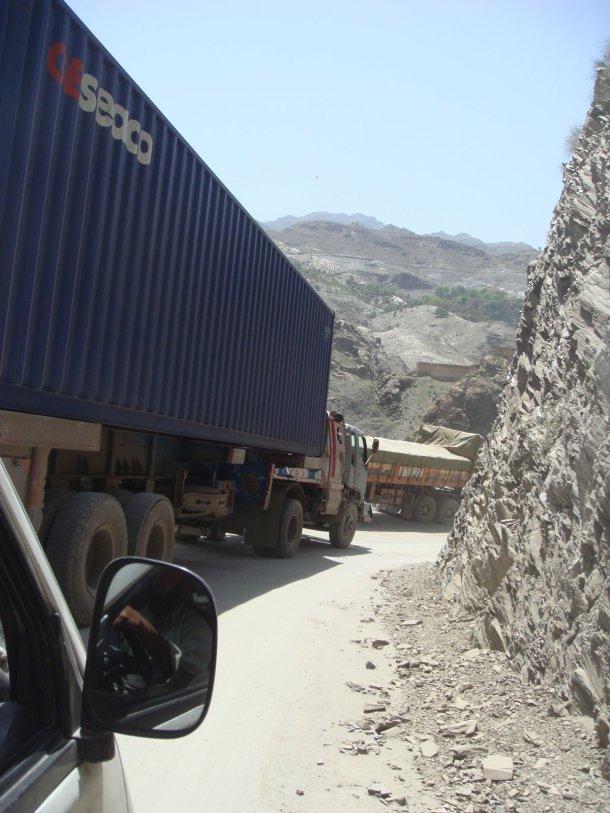 trucks torkham border crossing
