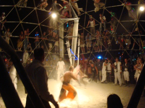 burning man combat thunderdome