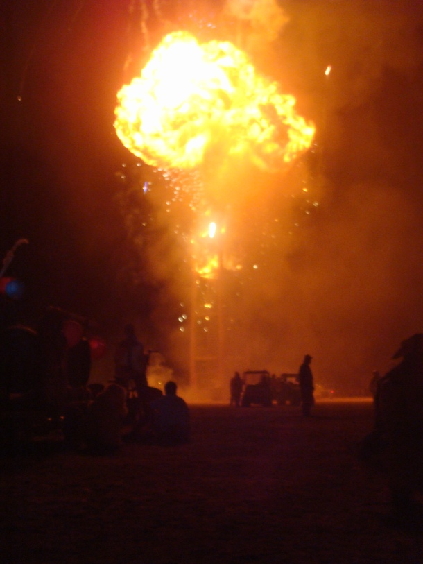burning man explosion