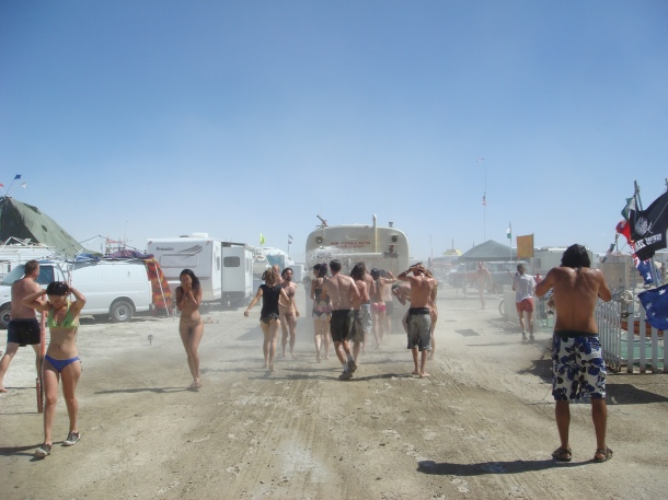 burning man water