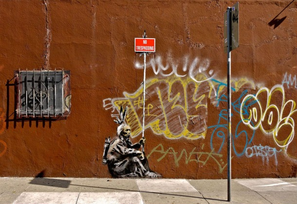 trespassing banksy