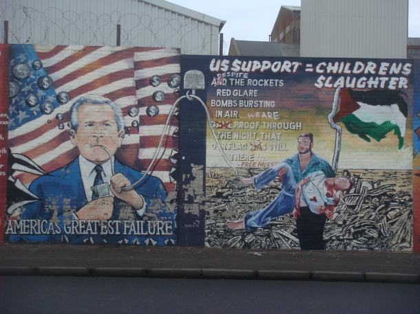 falls road murals northern ireland