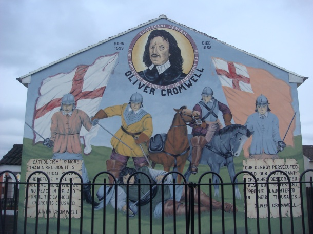 oliver cromwell mural belfast