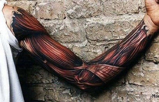 The coolest muscle tattoo
