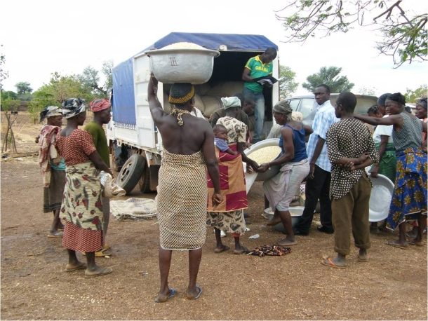 Ghana emergency food relief