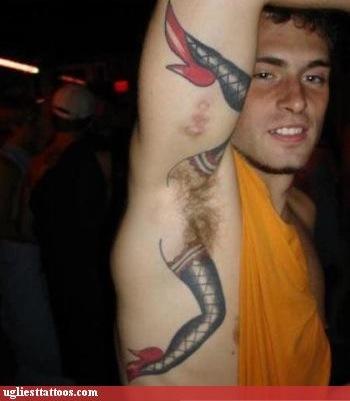 funny armpit tattoo
