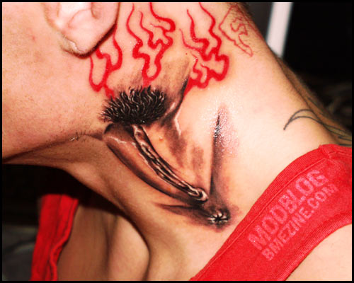 crazy neck tattoo