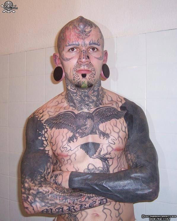 excessive tattoos