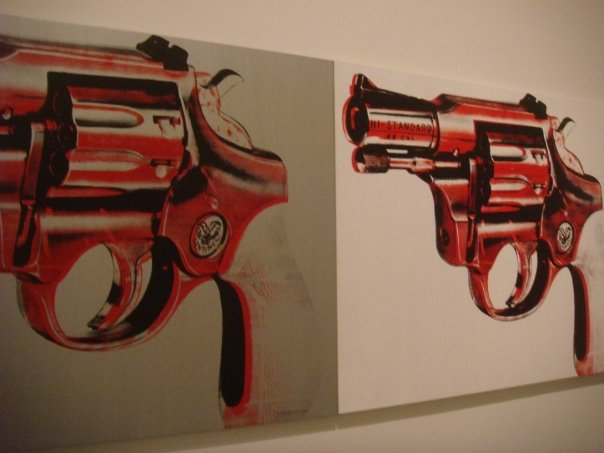 A gun inside the Tate Modern