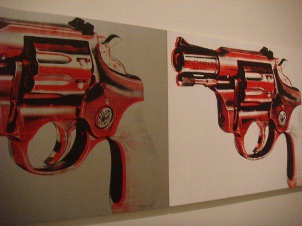 A gun inside the Tate Modern