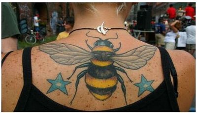 A hornet or bumblee tattoo