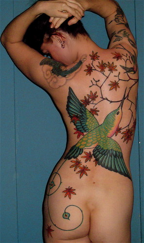 Cool hummingbird tattoo