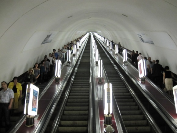 Kiev, Ukraine ,longest escalator in the world