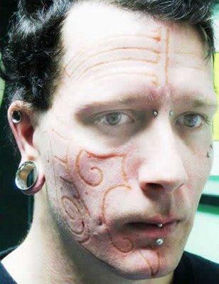 burned skin tattoo