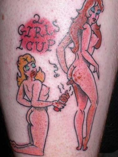 2 girls 1 cup tattoo