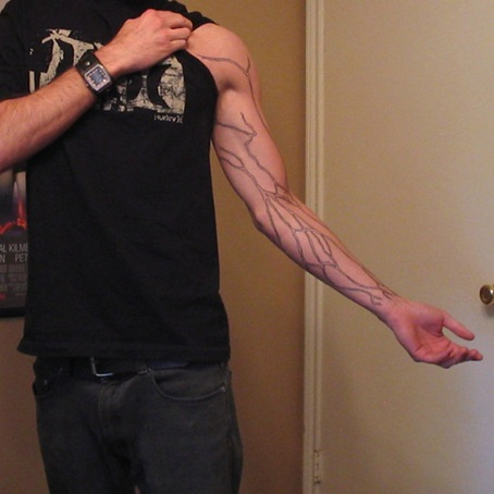 tattoo of veins