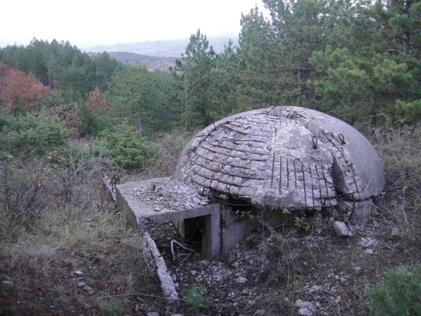 A bunker in the Albanian mountains
