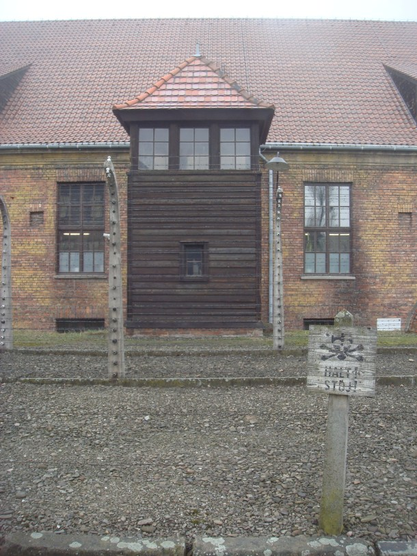 Auschwitz guard post