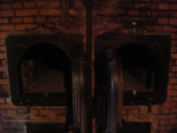Ovens next to Auschwitz gas chamber