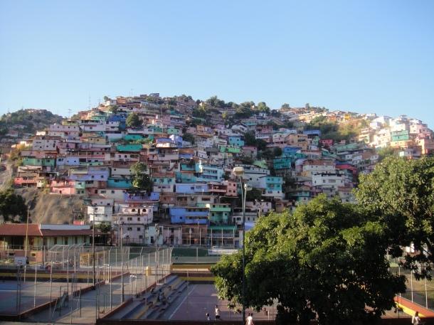The barrio neighborhoods of Caracas
