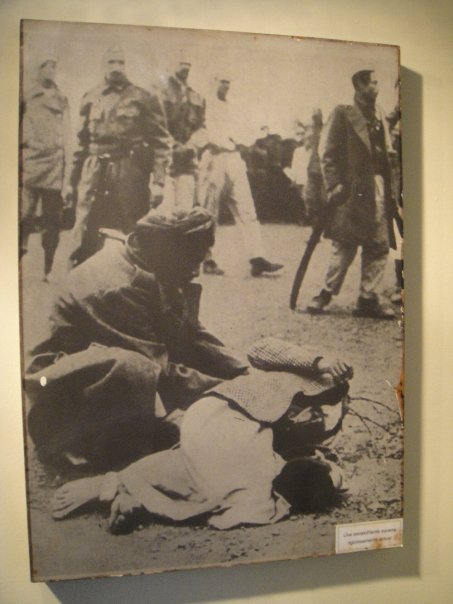 an execution taking place by means of decapitation at the Museo Historico Policia
