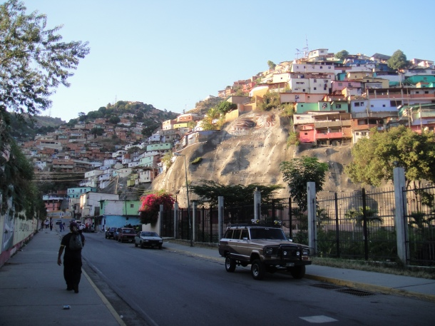 A scene from the Caracas barrios