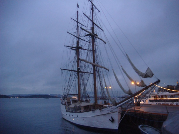 "The sailing ship ""Legend"" now based in Norway"