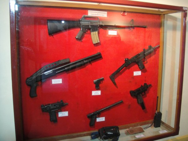 Guns belonging to Pablo Escobar