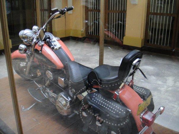 A Harley-Davidson motorcycle from Pablo Escobar