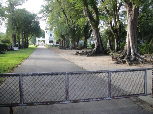 Presidential Palace entrance in Paramaribo, Suriname