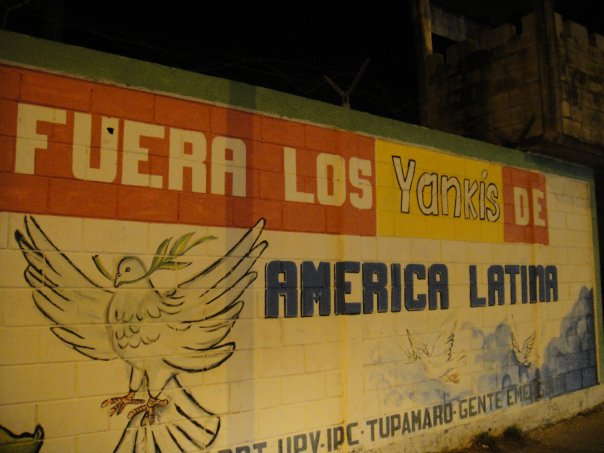 Anti-American graffiti and murals in Venezuela