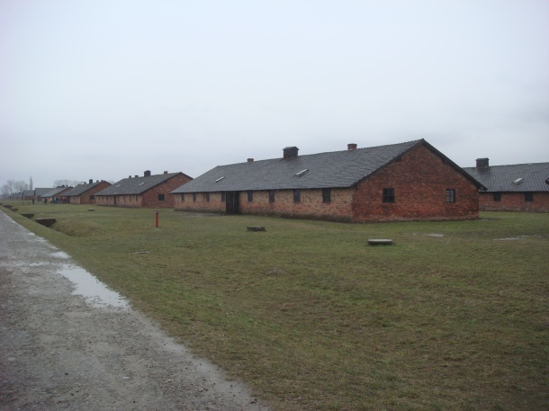 Quarters where prisoners in Birkenau lived