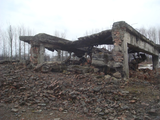 Birkenau gas chamber ruined
