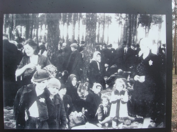Victims waiting in the woods for their death