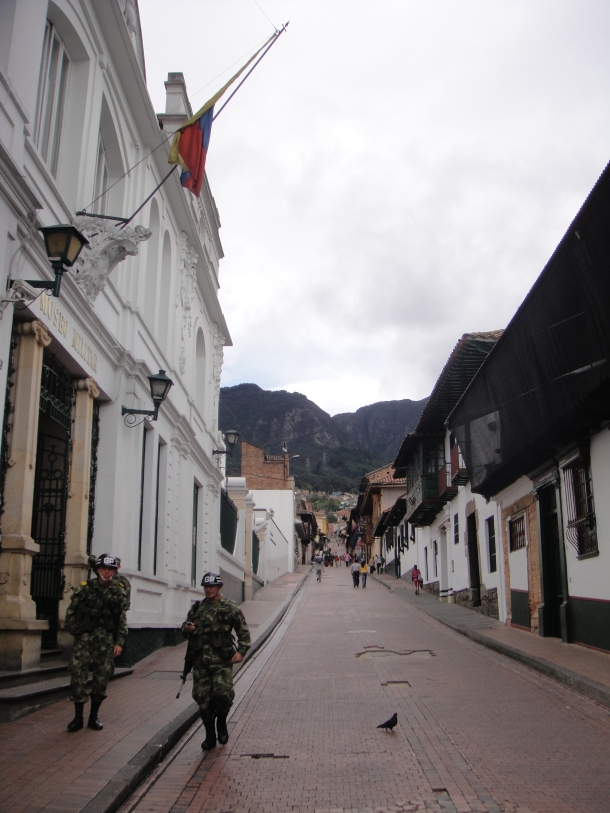 Soldiers in Bogota, Colombia