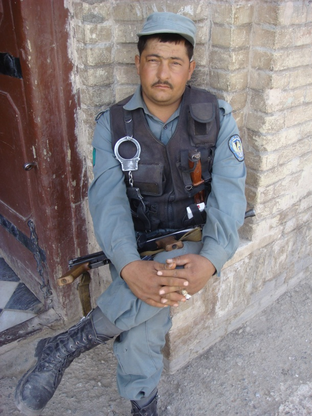 guard at The Friday Mosque