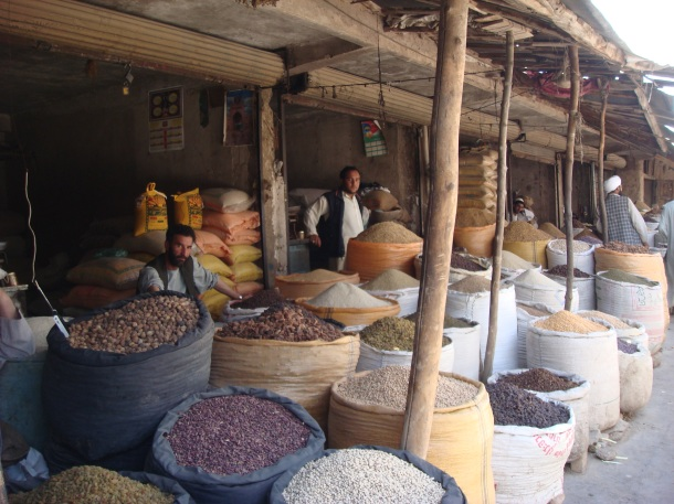 nut and spice market in afghanistan