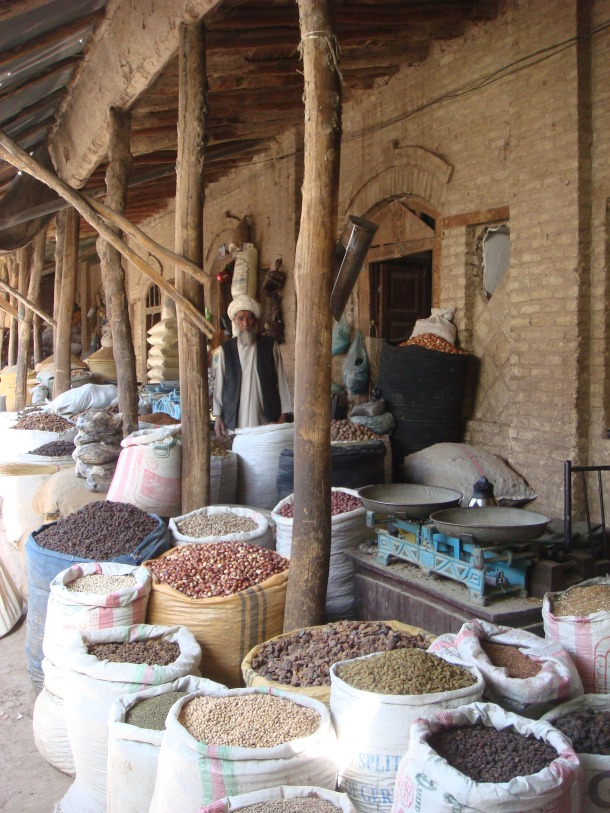 nut and spice market in herat afghanistan