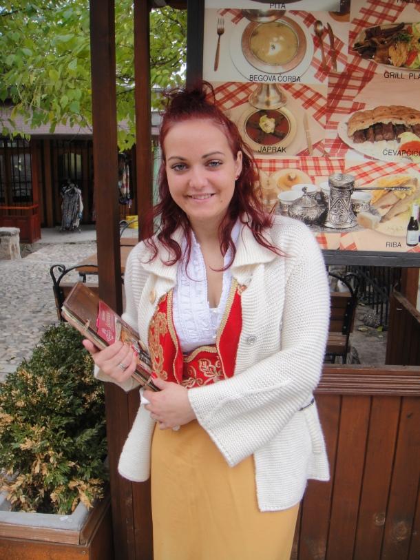 Friendly Bosnian girl in Mostar
