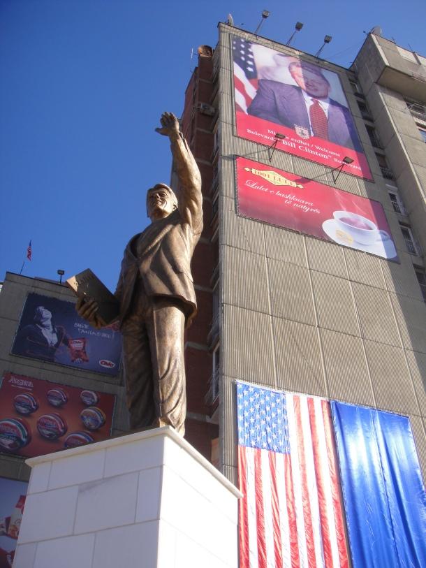 Bill Clinton in Prishtina, Kosovo