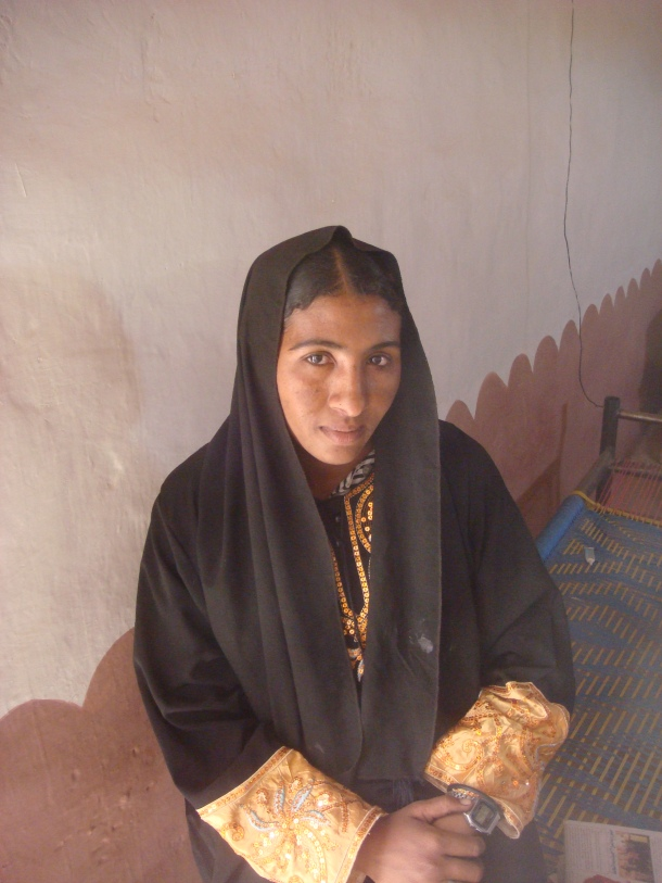 Girl in Sudan desert