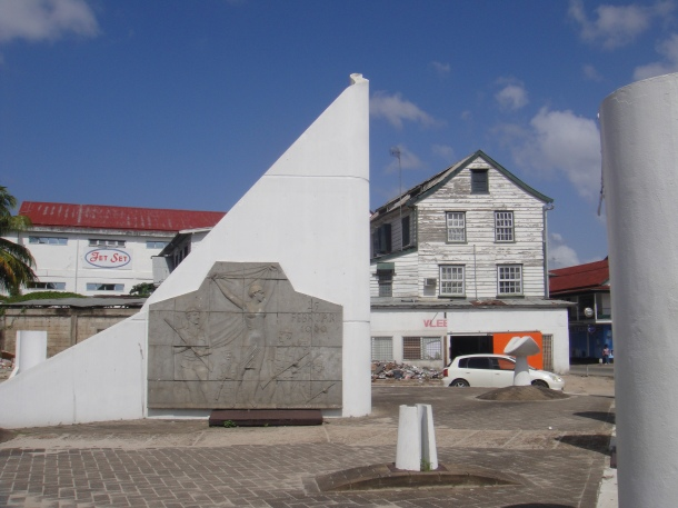 "Monument to ""liberation"" of Paramaribo, Suriname"