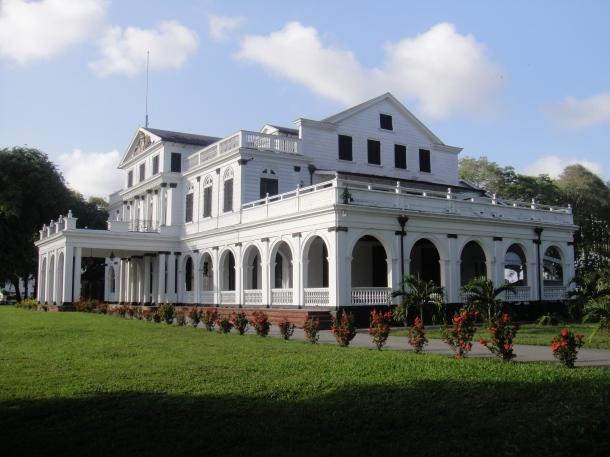 Presidential Palace in Paramaribo, Suriname