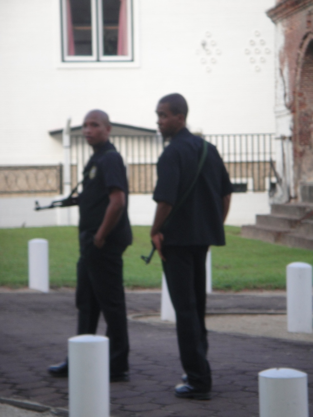 Guards at Ministry of Defense