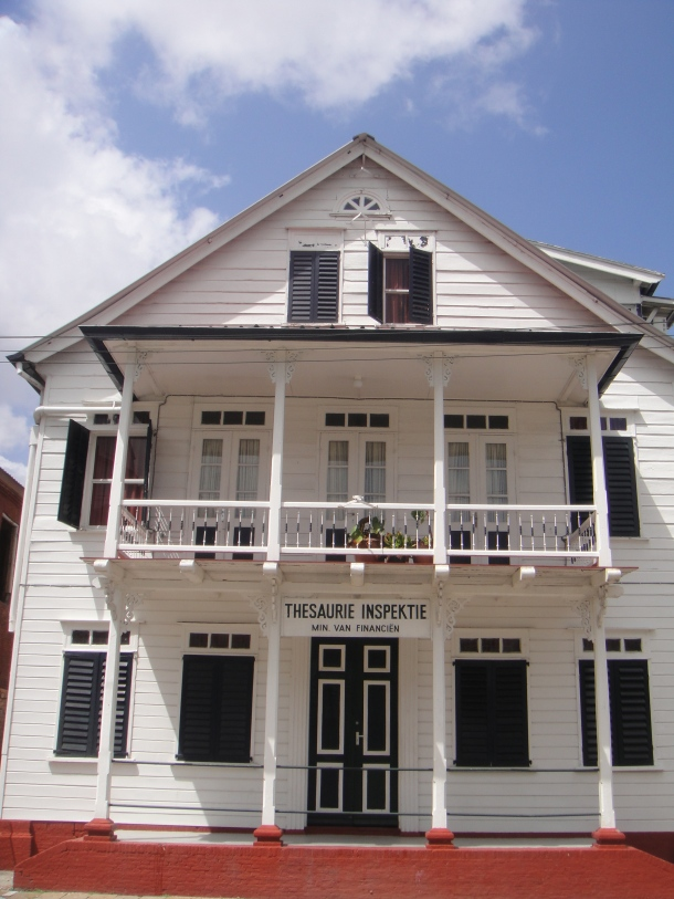 Finance Ministry Building in Paramaribo, Suriname