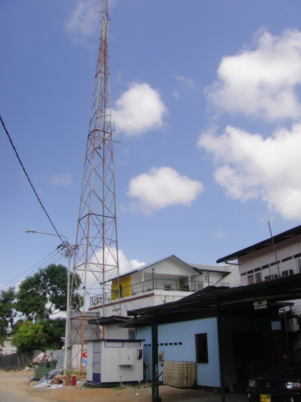 Unsecured Communications site in Paramaribo, Suriname