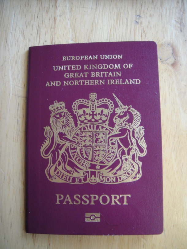 Justin Ames and his new British passport