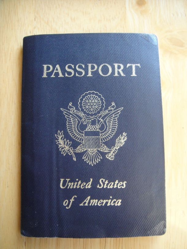 American passport of Justin Ames